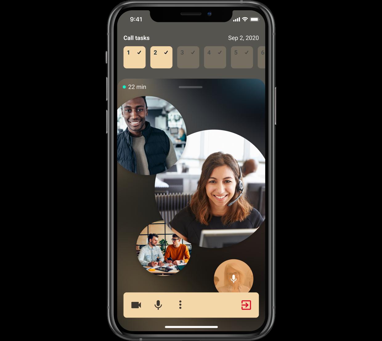 Screenshot of demo mobile application