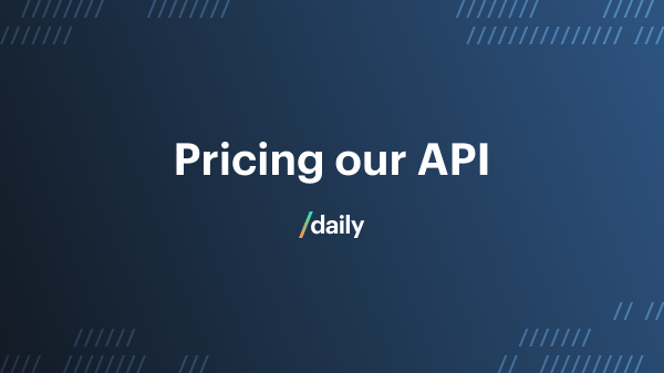 Pricing our video and audio call API