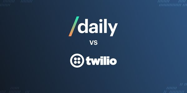 How does Daily's real-time video and audio API pricing compare to Twilio?